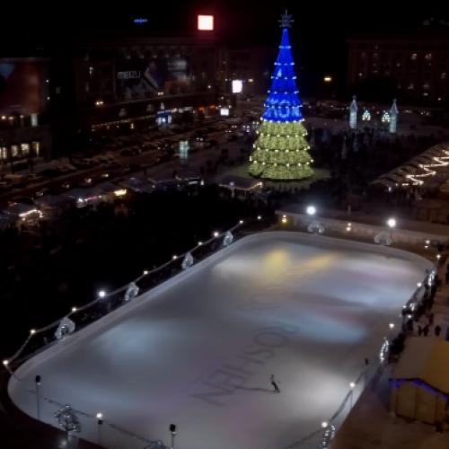 Корпорація ROSHEN залила безкоштовну ковзанку площею 1600 м² у Харкові
